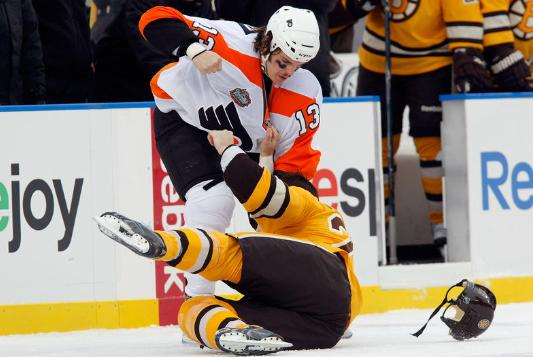 flyers v bruins