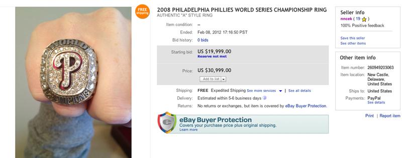 phillies world series ring